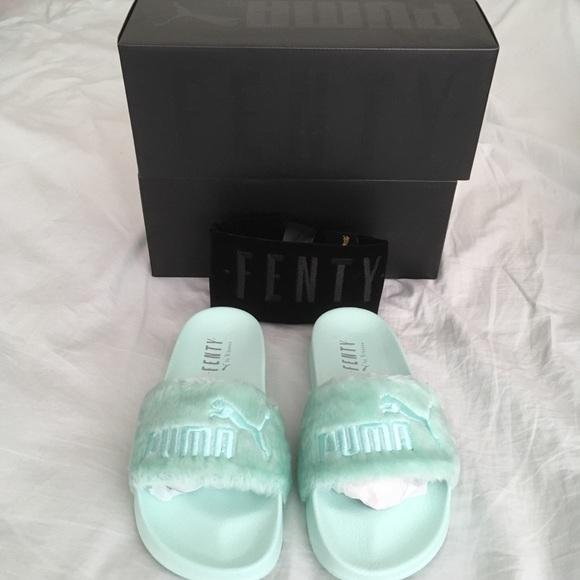 eb8595c7a09d7a NWT bay green fenty puma rihanna slides sandals